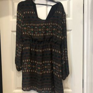 Umgee Dress with strap along neck line Size L